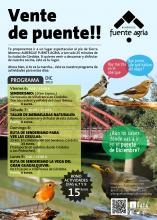 Cartel actividades albergue rural fuente agria para el puente en Villafranca de Córdoba